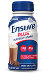 Abbott Ensure Plus Shake Gluten-Free Creamy Milk Chocolate 8oz Each