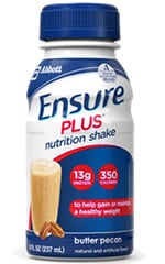 Abbott Ensure Plus Nutritional Shake Gluten-Free Butter Pecan 8oz Each
