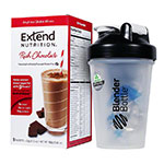 ExtendShakes Chocolate Case w/20oz Blender Bottle - Black