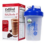 ExtendShakes Chocolate Case w/20oz Blender Bottle - Blue