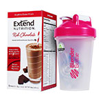ExtendShakes Chocolate Case w/20oz Blender Bottle - Pink