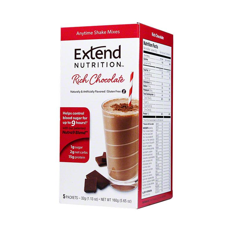 ExtendShakes Chocolate Shake Mix 12 Boxes (5 per Box)