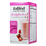 ExtendShakes Strawberry Shake Mix 12 Boxes (5 per Box)