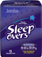 First Quality Sleepovers Youth Pants SM/MD 15/bag