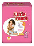 First Quality Cutie Pants Girl 2T-3T White Up to 34lbs CR7008 104/cs