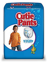 First Quality Cutie Pants Boy 4T-5T White 38+lbs CR9007 76/cs