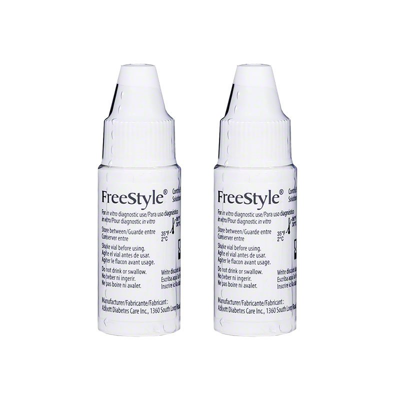 Freestyle Glucose Control Solution Normal Box of 2 vials