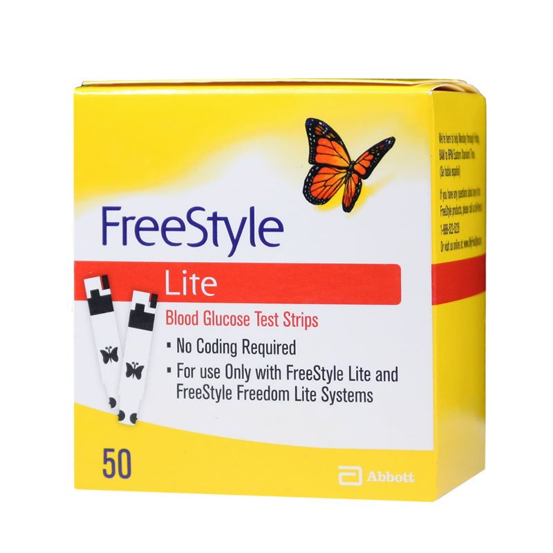 Freestyle lite bllood glucose test strips