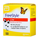 Freestyle Lite Blood Glucose Test Strips - Box of 100