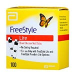 FreeStyle Lite Blood Glucose Test Strips - Box of 100 thumbnail
