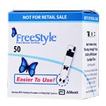 FreeStyle Diabetic Test Strips Box of 50 thumbnail