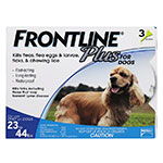 FRONTLINE Plus For Dogs 23-44 lbs - 3 Doses
