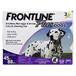 FRONTLINE Plus For Dogs 45-88 lbs - 3 Doses