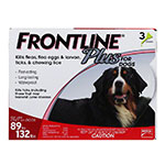 FRONTLINE Plus For Dogs 89-132 lbs - 3 Doses