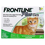 FRONTLINE Plus For Cats and Kittens - 3 Doses