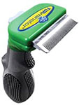 "FURminator Deshedding Tool For Short Hair Small 1.75"" Wide - Green thumbnail"