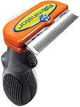 "FURminator Deshedding Tool For Long Hair Medium 2.65"" Wide - Orange thumbnail"