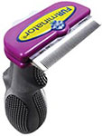 "FURminator Deshedding Tool For Long Hair Feline 2.65"" Wide - Purple thumbnail"
