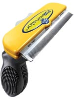 FURminator Deshedding Tool For Short Hair Large 4 inch Wide - Yellow