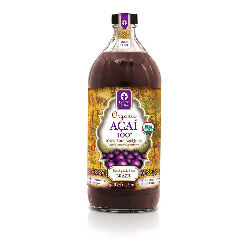 Genesis Today Acai 100% Juice 32oz Pack of 12