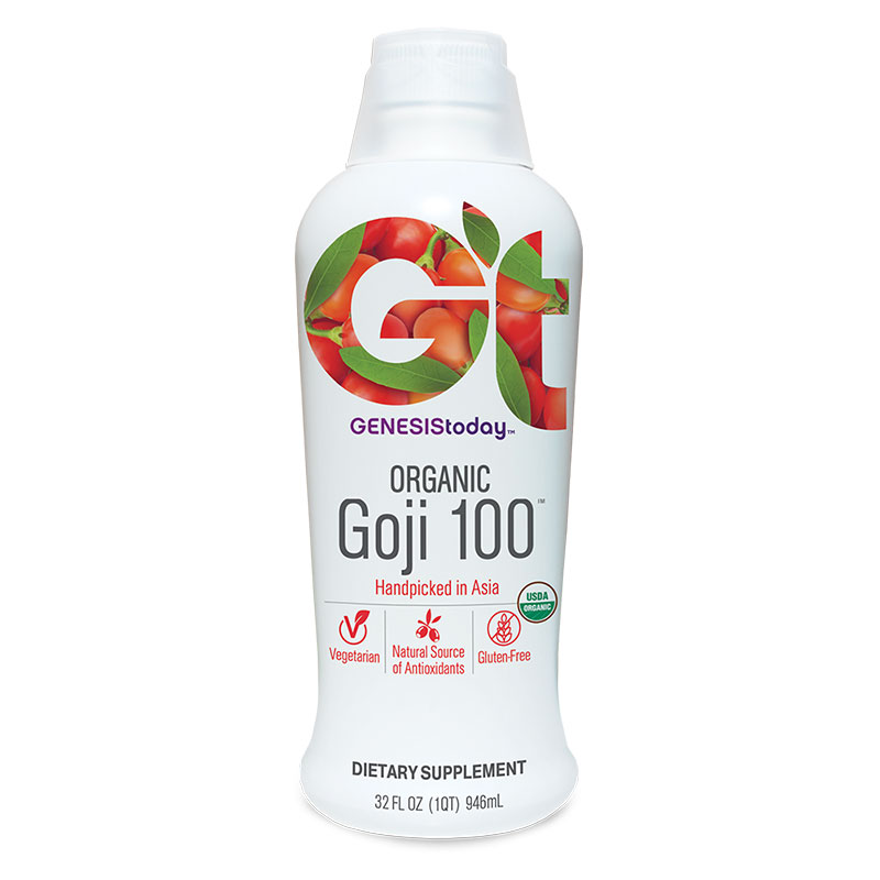Genesis Today Goji 100% Juice 32oz Pack of 4