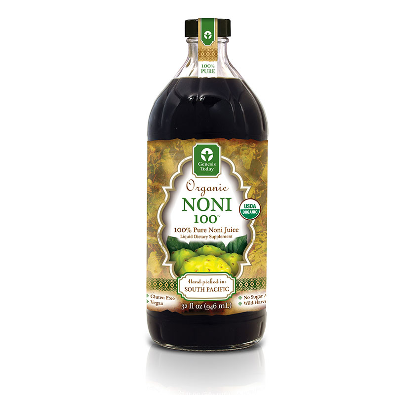 Genesis Today Noni 100% Juice 32oz Pack of 4