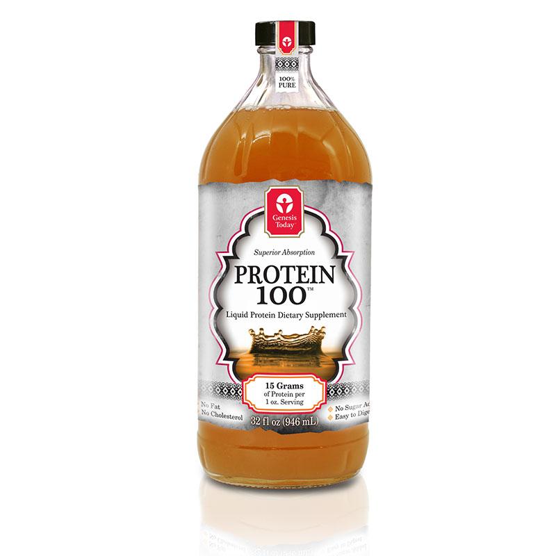 Genesis Today Protein100 Liquid Protein Dietary Supplement 32oz 12pk