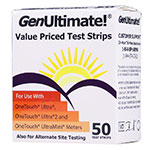 GenUltimate Blood Glucose Test Strips 50ct thumbnail
