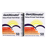 GenUltimate Blood Glucose Test Strips - Case of 8