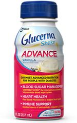 Abbott Glucerna 200 Calorie Advance Vanilla Shake 8oz Case of 16