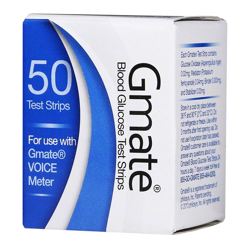 Gmate Voice Blood Glucose Test Strips 50/bx
