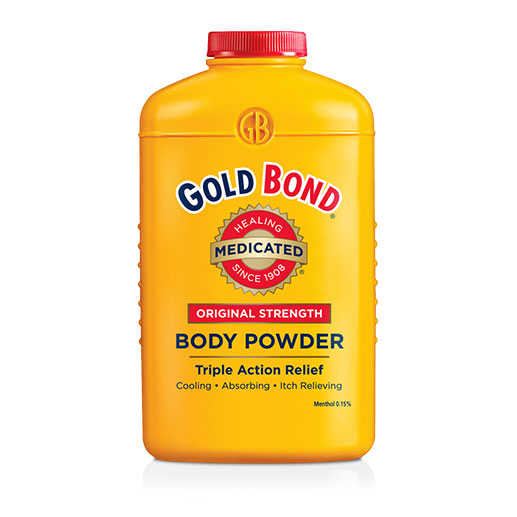 Gold Bond Original Strength Medicated Body Powder 10oz - Pack of 6