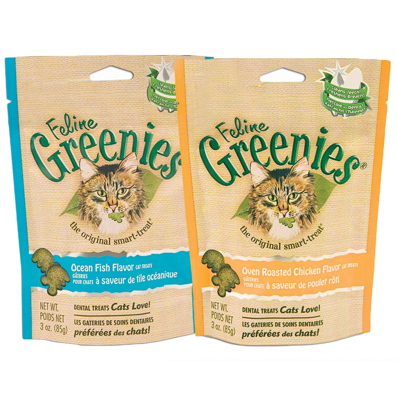 Greenies Cat Dental Treats Variety Pack - 6 Bags