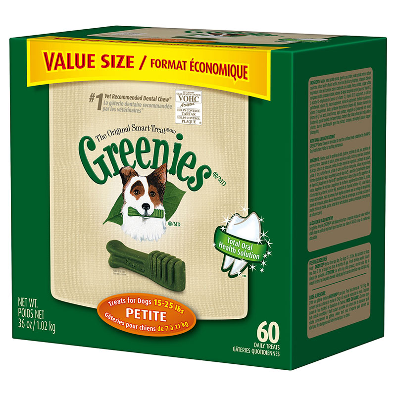 GREENIES Dental Chews Value Size Tub 36oz Petite