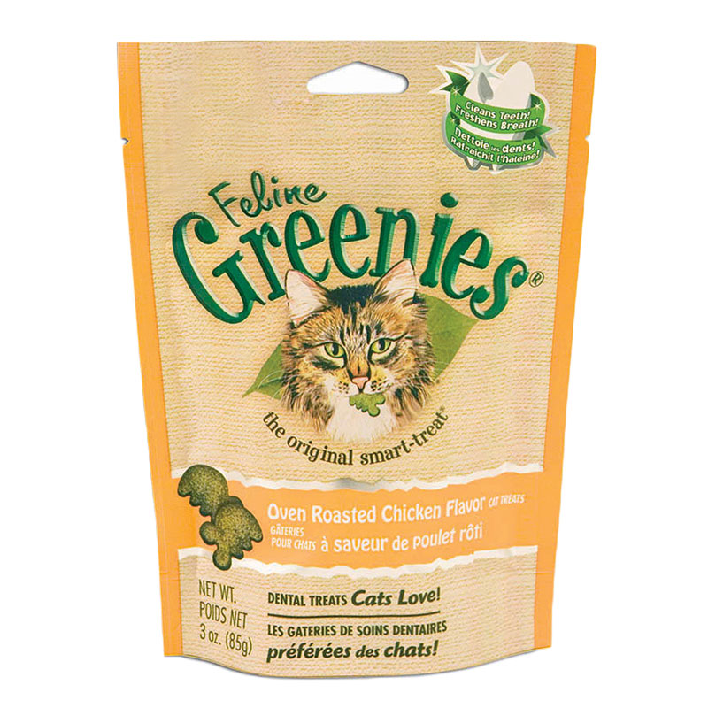 Greenies Cat Dental Treats Oven Roasted Chicken 2.5oz Case of 10