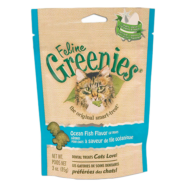 Greenies Cat Dental Treats Ocean Fish 2.5oz Case of 10