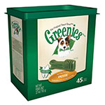 Greenies Dog Dental Treats Petite 45/pk Case of 12
