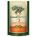 Greenies Feline SMARTBITES Hairball Control Chicken 2.1oz