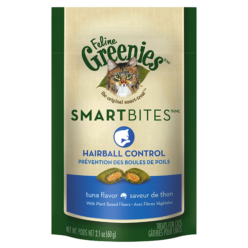 Greenies Feline SMARTBITES Hairball Control Tuna 2.1oz