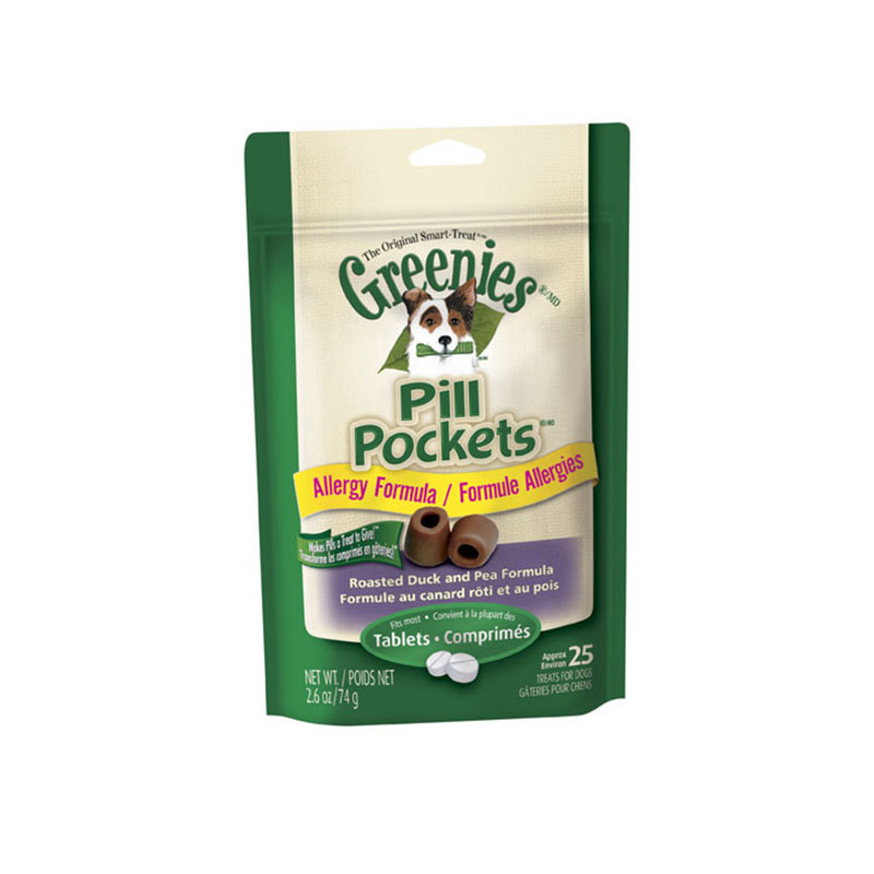 Greenies Dog Pill Pockets Duck & Pea Flavor for Tablets - Case of 6