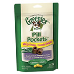 Greenies Dog Pill Pockets Duck & Pea Flavor for Capsules - Case of 6