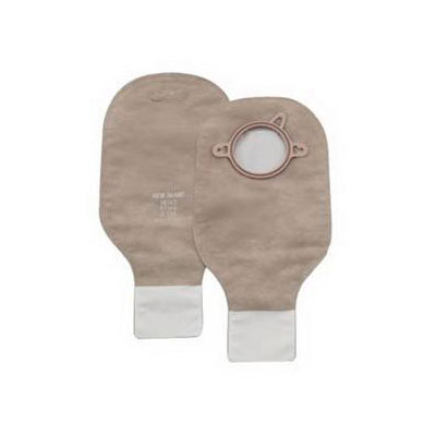 Hollister New Image 2 piece Drainable Pouch, 2 1/4 inch Flange - Beige