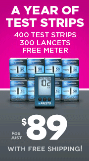AgaMatrix Presto Glucose Test Strips 400ct & 300 Lancets w/ FREE Meter Free shipping!