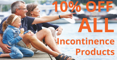 10% Off ALL Incontinence Products! - JC39BX
