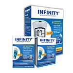 INFINITY Glucose Test Strips 100/bx w/ Meter Kit thumbnail