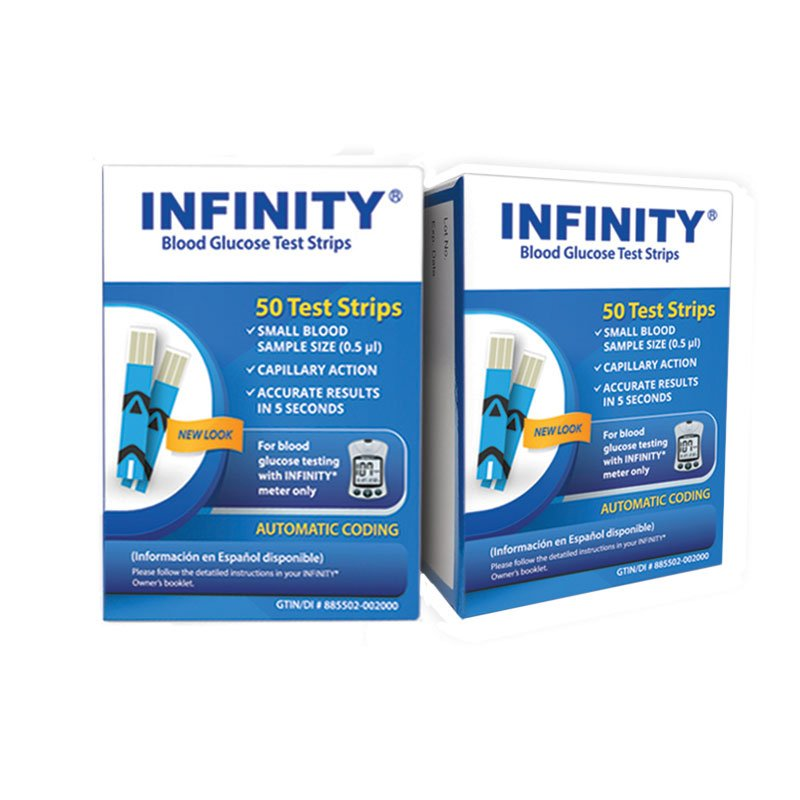 INFINITY Glucose Test Strips 50/bx Case of 12