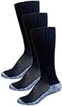 InStride Xelero Comfort Crew Socks Black - 3 pairs