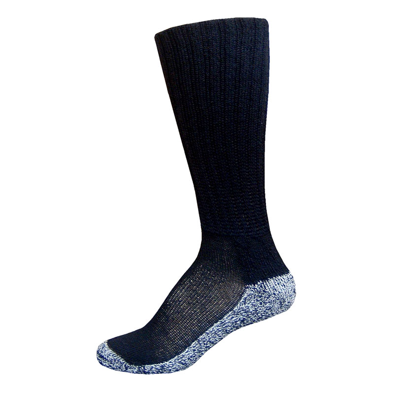 InStride Xelero Comfort Care Crew Socks, Black - Medium Pair