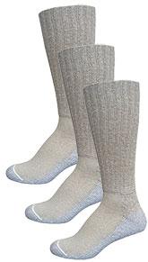 InStride Xelero Comfort Crew Socks Khaki - 3 pairs