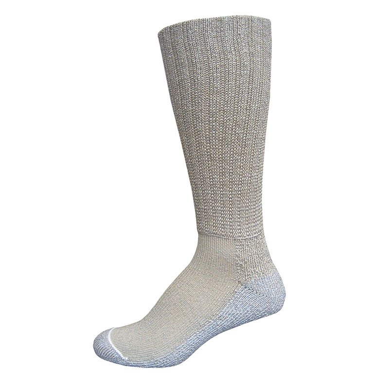 InStride Xelero Comfort Care Crew Socks, Khaki - Large Pair